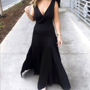 Front Slit Flare Surplus Maxi Dress, Free Shipping